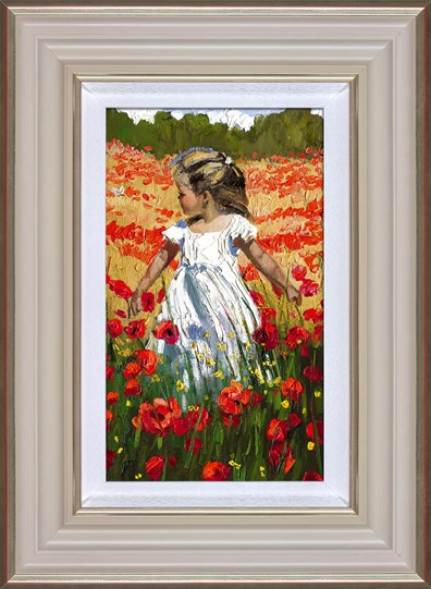 The Butterfly Amongst the Poppies by Sherree Valentine Daines - Framed Limited Edition Canvas on Board