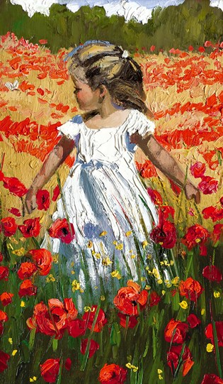 The Butterfly Amongst the Poppies by Sherree Valentine Daines - Limited Edition Canvas on Board